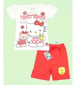 Komplet kratke hlače in majica Hello Kitty