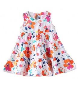 Cvetlična poletna oblekica za punčke