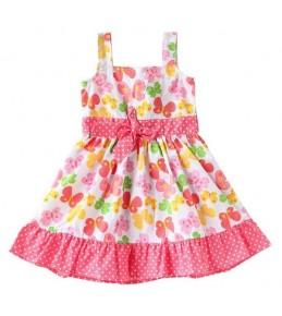 Poletna oblekica za punčke Metuljčki