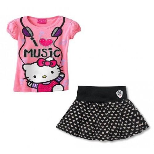 Dvodelna oblekica za punčke Hello Kitty