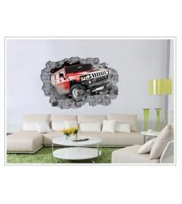 Nalepka za steno Jeep 70 x 100 cm